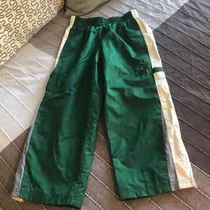Boys Champion Forest Green White Track Pants XS